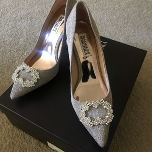 Badgley Mischka Silver Pumps similar to Manolo